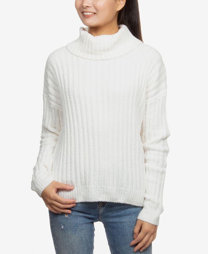 Hippie Rose - Juniors' Chenille Turtleneck Sweater