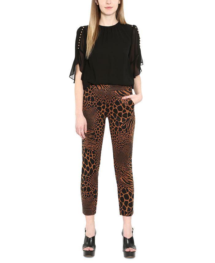 Michael Kors - Animal-Print Pull-On Pants