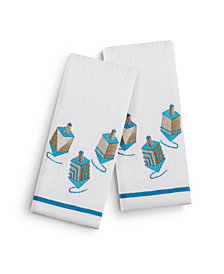 "Martha Stewart Collection Dreidel 2-Pc. 11"" x 18"" Fingertip Towel Set, Created for Macy's"
