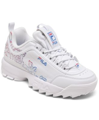 fila shoes with flowers