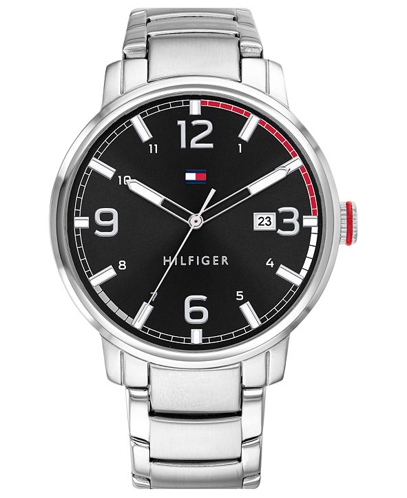 Tommy Hilfiger Men's Stainless Steel Bracelet Watch 44mm, Created for Macy's