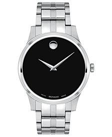 Movado Men's Swiss Stainless Steel Bracelet Watch 40mm