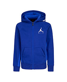 Jordan Big Boys Fleece Full-Zip Logo Hoodie