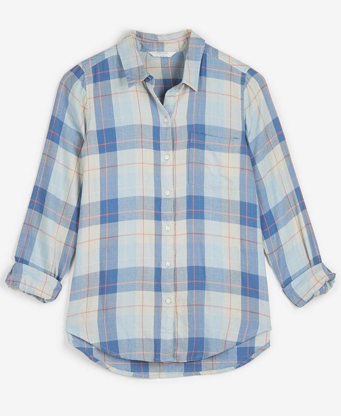 Lucky Brand - Cotton Plaid Utility Shirt