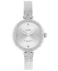 COACH Women's Park Stainless Steel Bangle Bracelet Watch 30mm