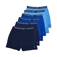 6-Pack Polo Ralph Lauren Men's Knit Boxers