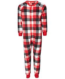 Matching Kids Buffalo Check One Piece Family Pajamas, Created for Macy's