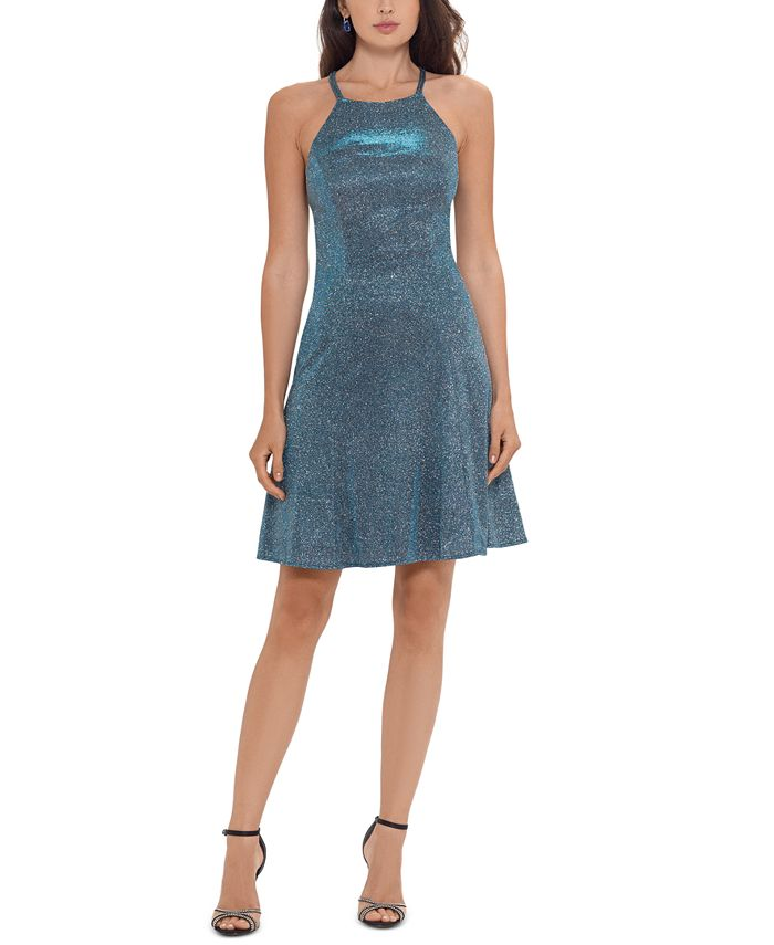 Betsy & Adam - Metallic Fit & Flare Dress