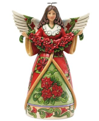 Jim Shore Angel with Poinsettia Collectible Figurine