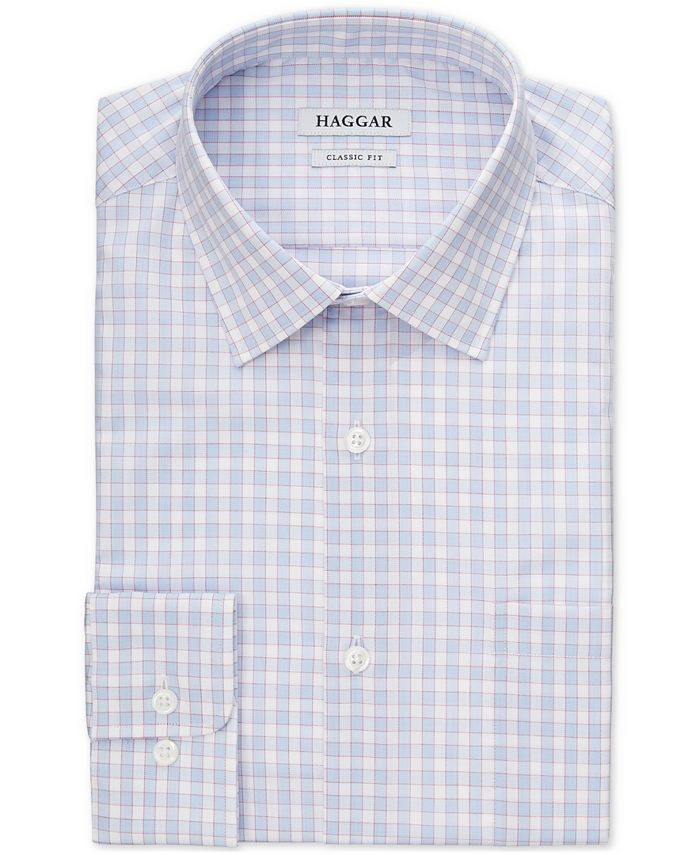 Haggar - Men's Slim-Fit Comfort Stretch Check Dress Shirt