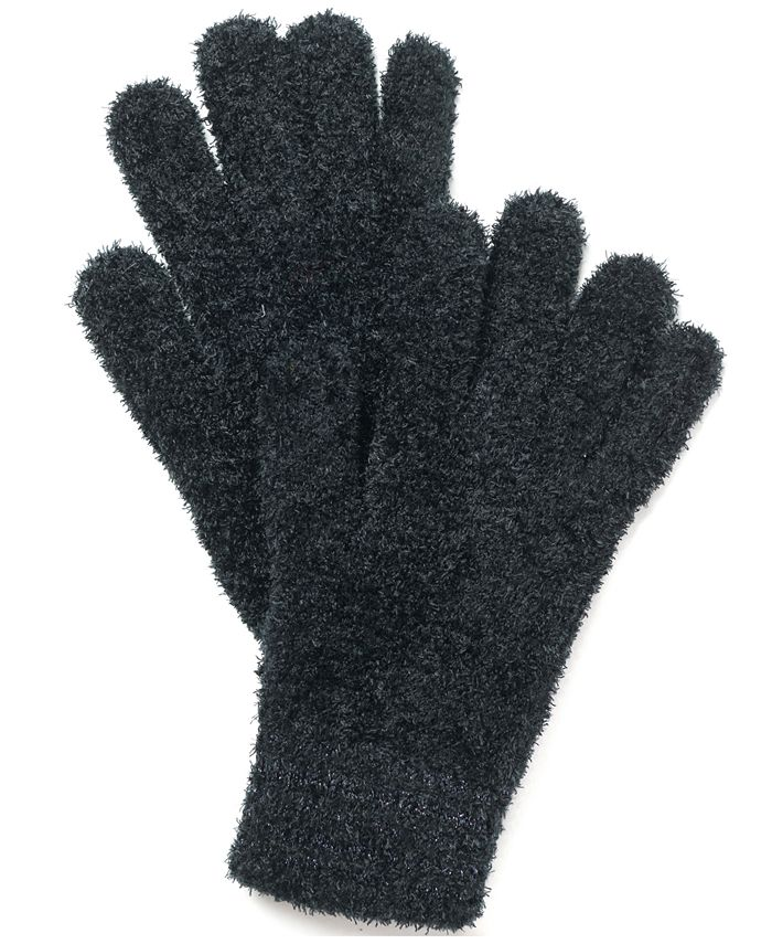 Charter Club - Striped-Cuff Chenille Gloves