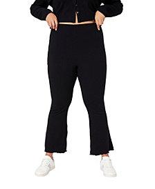 COTTON ON Trendy Plus Size Bella Rib Flare Pant