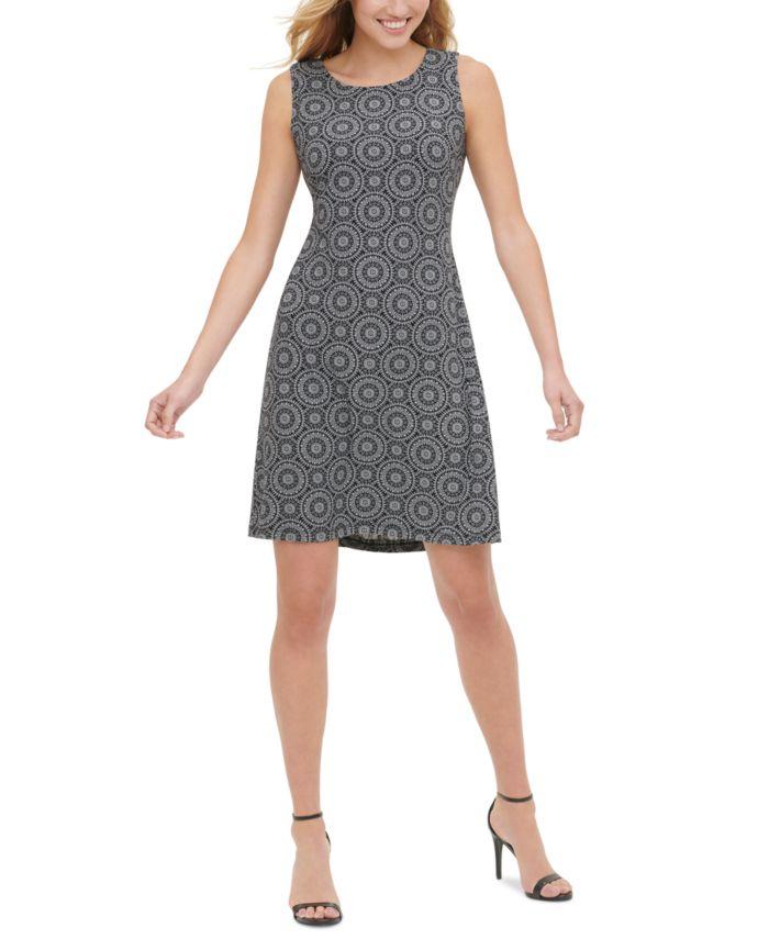 Tommy Hilfiger Printed A-Line Dress  & Reviews - Dresses - Women - Macy's