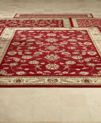 Exceptional Kenneth Mink Area Rug Set, Florence Collection 4 Pc Set Isfahan Red