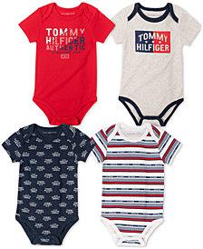 Tommy Hilfiger Baby Boys 4-Pack Bodysuits