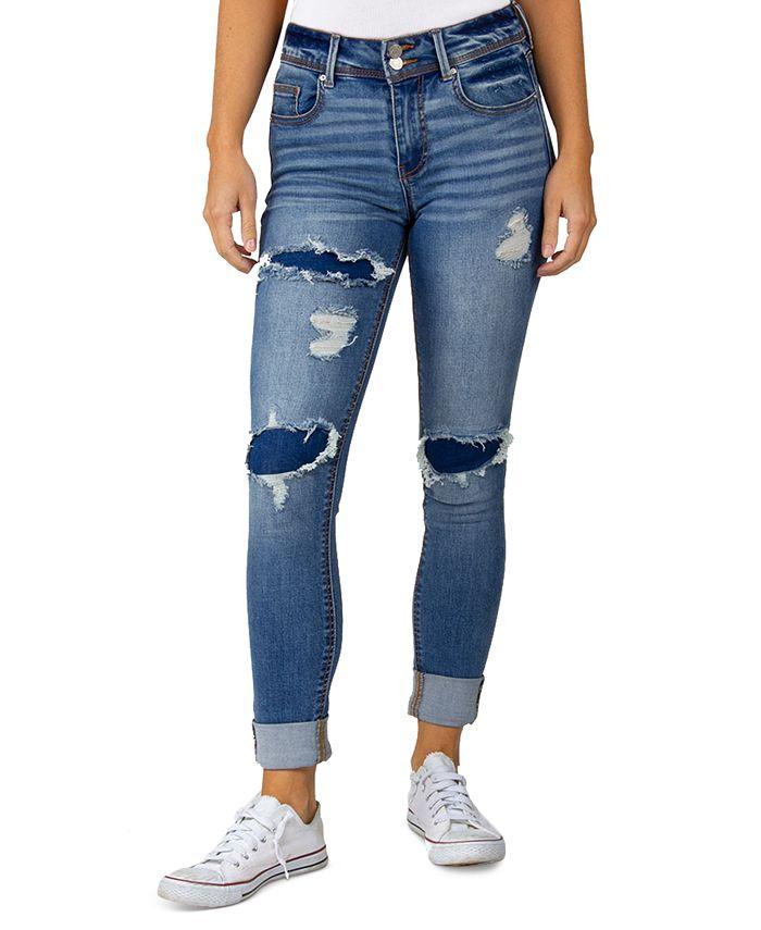 Indigo Rein - Juniors Distressed Skinny-Fit Jeans