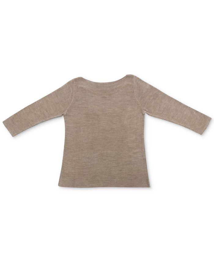 Karen Scott - Luxsoft Ribbed-Hem Sweater