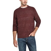 Deals on Weatherproof Vintage Mens Soft Touch Stripe Crew Neck Sweater
