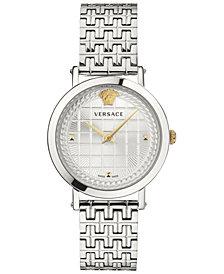 Versace Women's Swiss Medusa Chain Stainless Steel Bracelet Watch 37mm