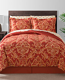 Fairfield Square Collection Golden Damask 8-Pc. Reversible Full Comforter Set