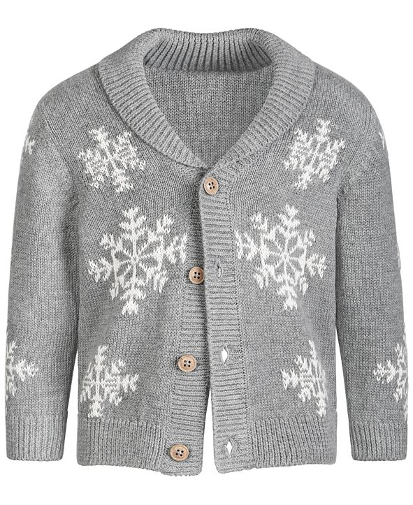 First Impressions Baby Boy Snowflake Sweater, Created for Macy's