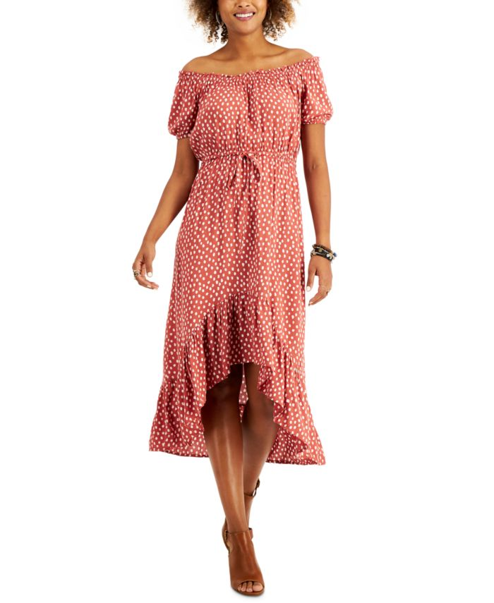 Style & Co High-Low Peasant Dress, Created for Macy's & Reviews - Dresses - Women - Macy's