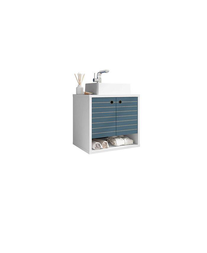 Manhattan Comfort Liberty Floating Bathroom Vanity Sink Reviews Furniture Macy S
