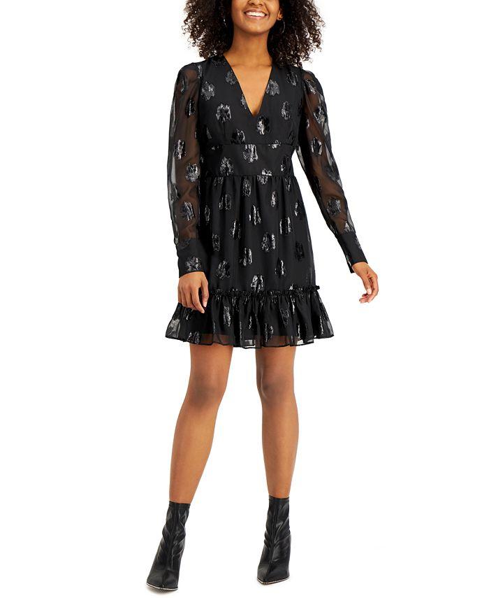 Bar III - Embroidered Chiffon Dress