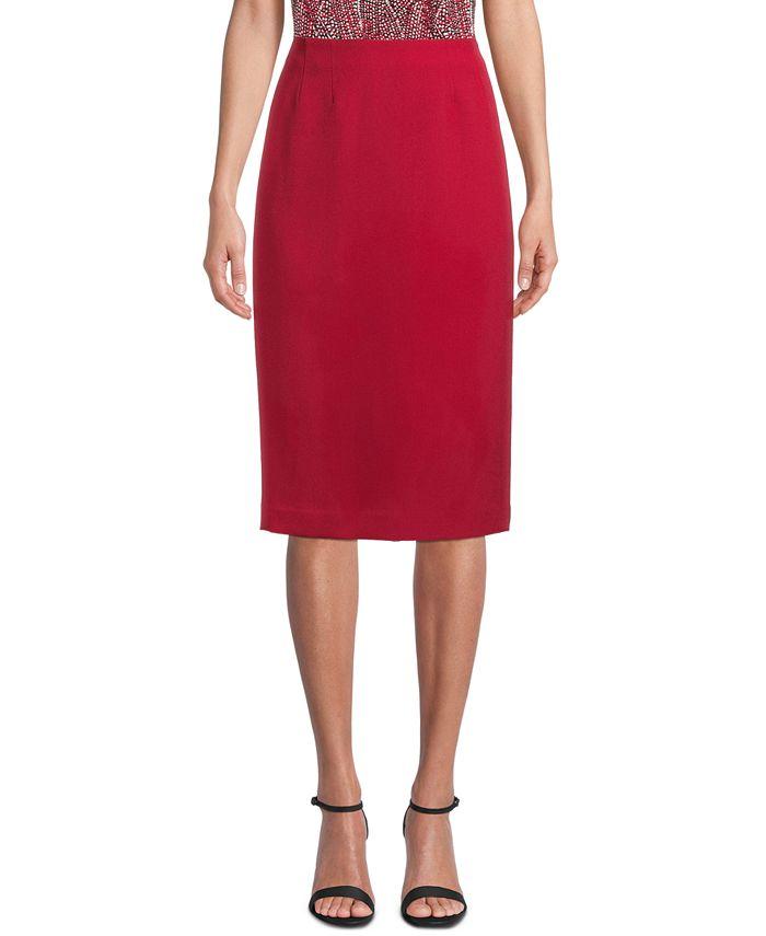 Kasper - Crepe Pencil Skirt