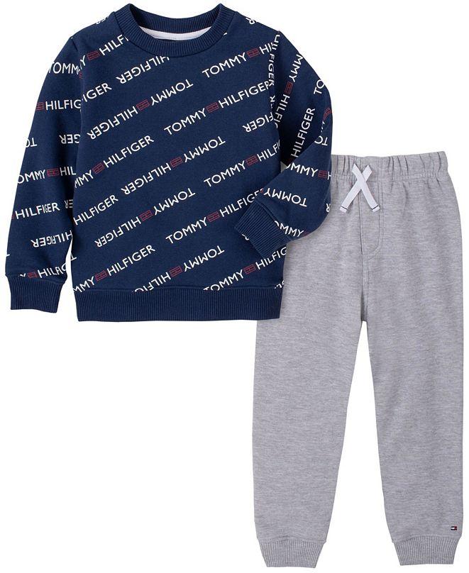 Tommy Hilfiger Baby Boys Tommy Logo Fleece Pant Set
