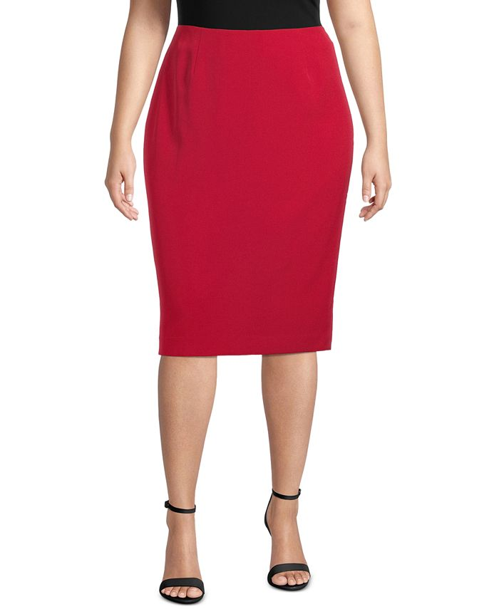 Kasper - Plus Size Skimmer Skirt