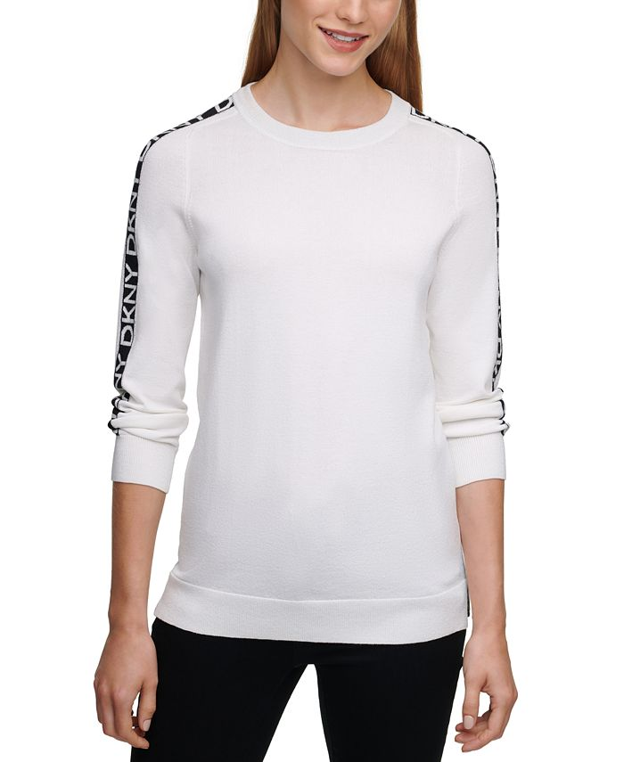 DKNY - Crewneck Logo-Sleeve Sweater