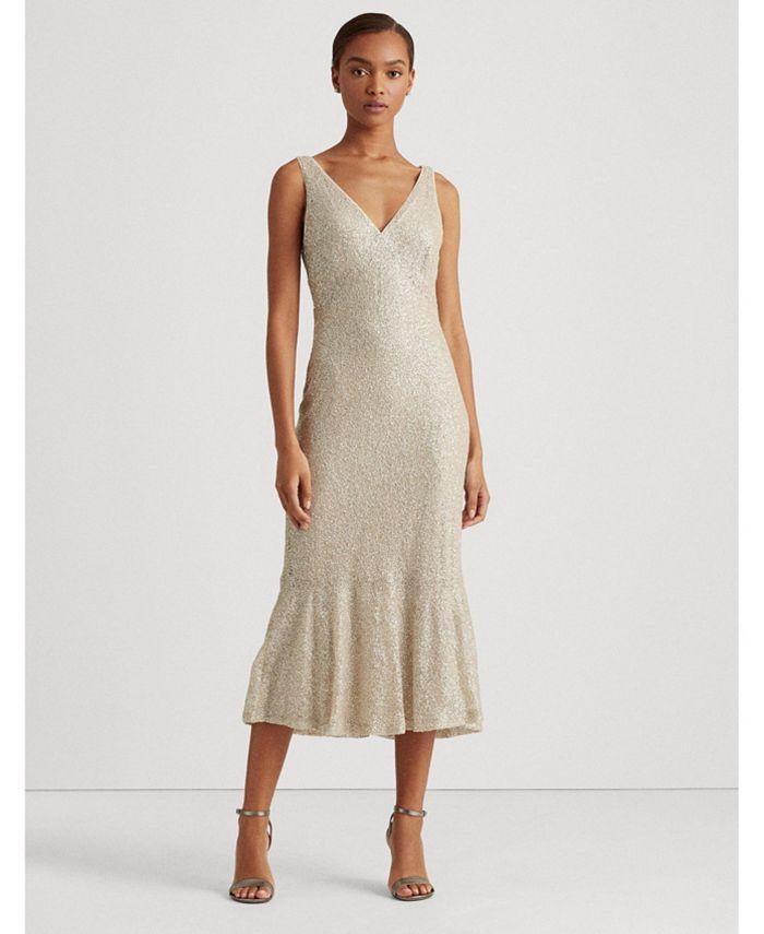 Lauren Ralph Lauren - Sequin-Lace Sleeveless Dress