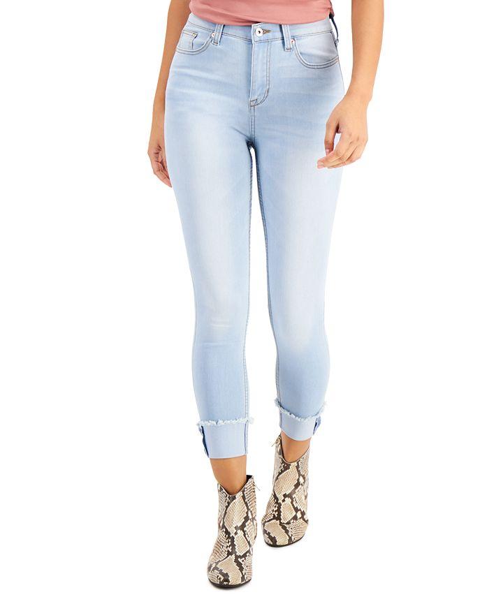 Celebrity Pink - Juniors' Cotton Classic High-Rise Cuffed Skinny Jeans