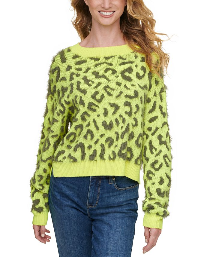DKNY Jeans - Juniors' Leopard Print Sweater