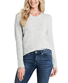 CeCe Crew-Neck Puffed-Shoulder Sweater