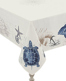"Laural Home Seaside Postcard Tablecloth -  70"" x 84"""