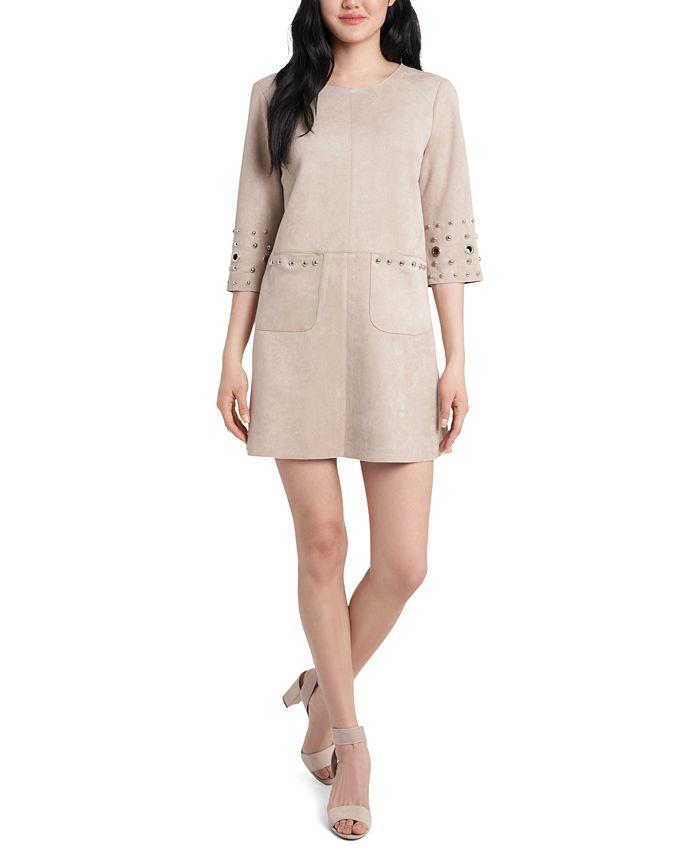 MSK - Faux-Suede A-Line Dress