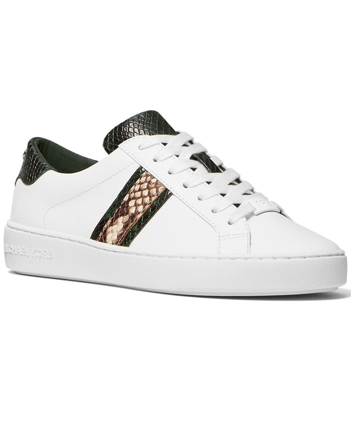 Michael Kors - Irving Side-Striped Lace-Up Sneakers