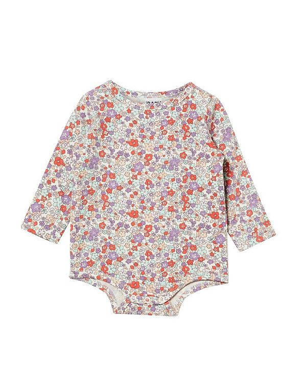 COTTON ON Baby Boys and Girls The Long Sleeve Bubbysuit
