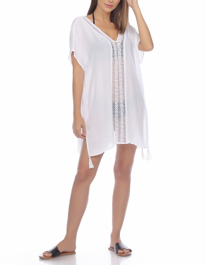 Raviya - Crochet-Trim Cover-Up Tunic