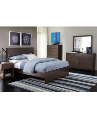 Tribeca Queen 3-Pc. Bedroom Set (Bed, Nightstand & Chest ...
