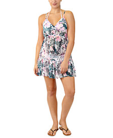 Miken Juniors' Adjustable Palm-Leaf-Print Cover-Up, Created for Macy's