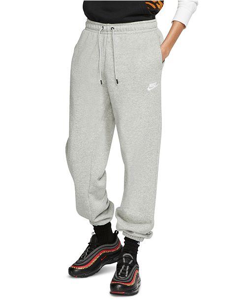 Nike Women's Sportswear Essential Fleece Sweatpants ...