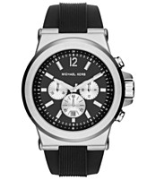 b1b9d77358c9 Michael Kors Men s Chronograph Dylan Black Silicone Strap Watch 48mm MK8336