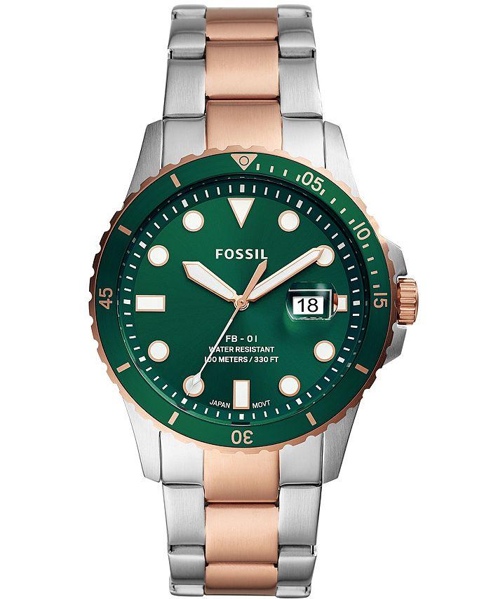 Fossil - Men's FB-01 Sport Two-Tone Bracelet Watch 42mm