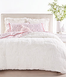 Whim by Martha Stewart Collection Shaggy Faux Fur Bedding Collection, Created for Macy's