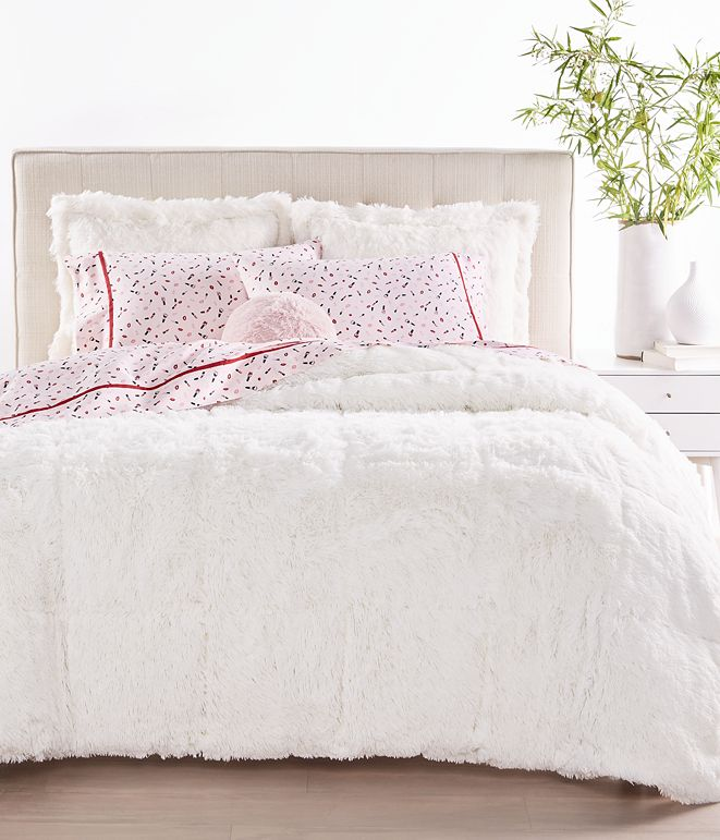 Martha Stewart Collection Shaggy Faux Fur Bedding Collection, Created for Macy's