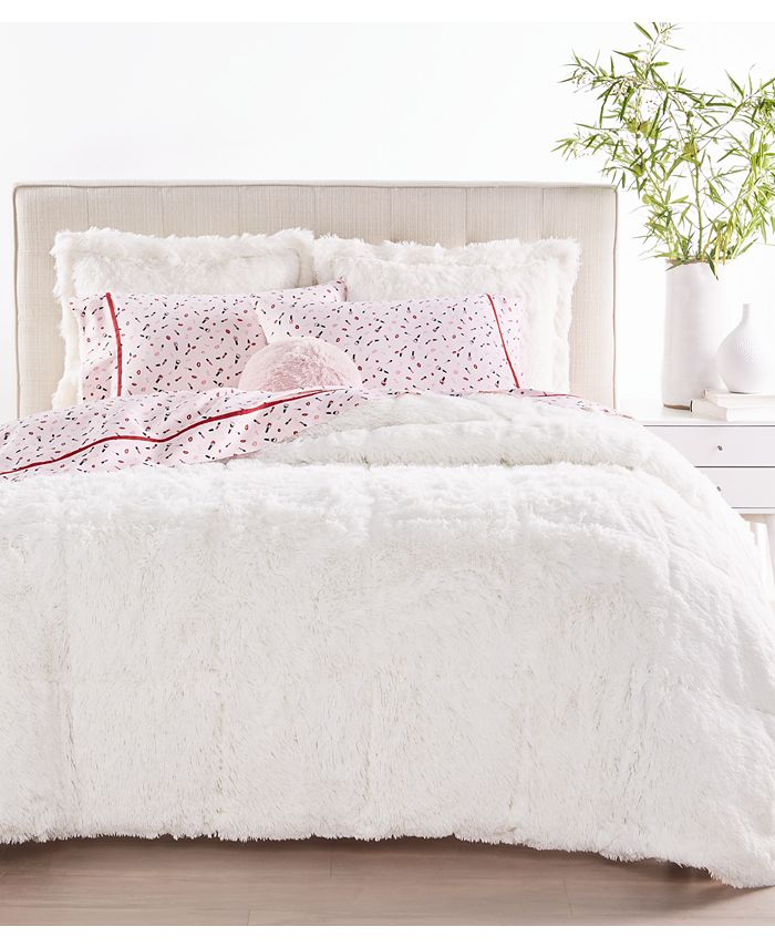 Martha Stewart Collection - Shaggy Fur 3-Pc. Comforter Sets, Created for Macy's
