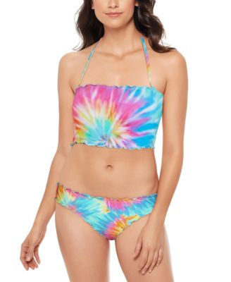 Tie-Dyed Ruffled Hipster Bikini Bottom, Created for Macy's